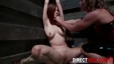 Жесткое бдсм лесбиянок в подвале